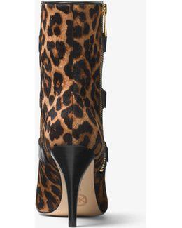 Lori Leopard Calf Hair Ankle Boot