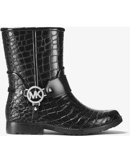 Embossed-rubber Rain Boot