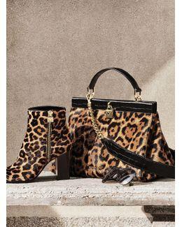 Margaret Leopard Calf Hair Ankle Boot