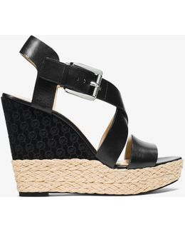 Giovanna Leather Wedge