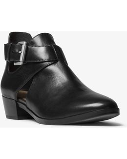 Mercer Cutout Leather Ankle Boot