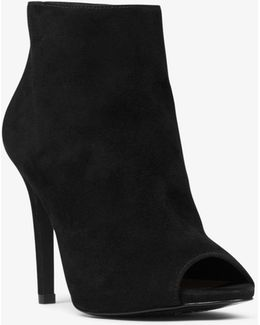 Whitley Open-toe Suede Ankle Boot
