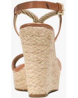 Holly Rope-trim Leather Wedge