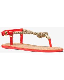 Holly Rope-trim Sandal