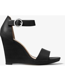 Lena Leather Wedge