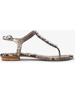 Mahari Embossed-leather Thong