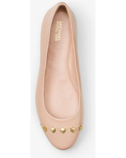 Valencia Studded Leather Ballet Flat