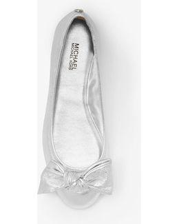 Willa Metallic Leather Ballet Flat