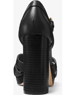 Annaliese Leather Platform Sandal