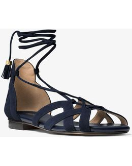 Mirabel Suede Lace-up Sandal