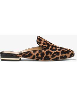 Natasha Leopard Calf Hair Slide