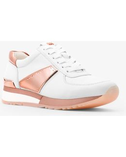 Allie Metallic And Leather Trainer