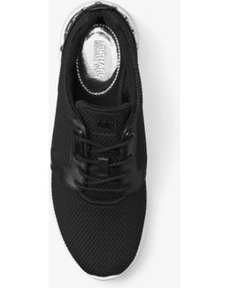 Astor Studded Mesh And Leather Sneaker