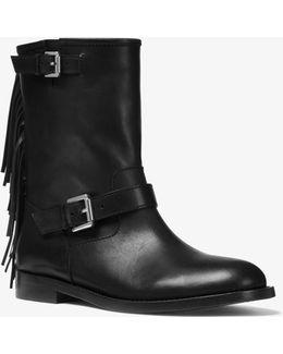 Ingrid Fringed Leather Boot