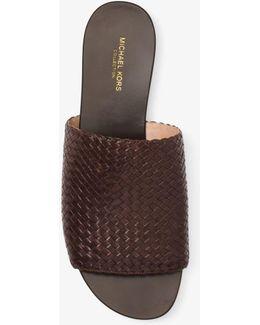 Byrne Woven-leather Slide