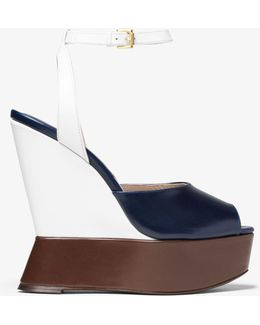 Marilyn Color-block Leather Wedge