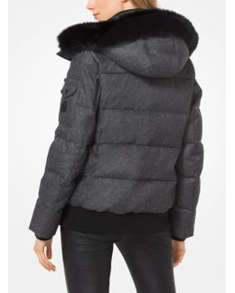 Fur-trimmed Down Jacket