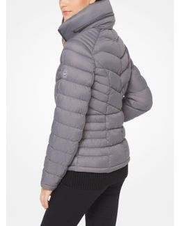 Quilted-nylon Down Jacket