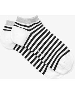 Striped Cotton-modal Ankle Socks