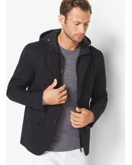 Cotton-blend Hooded Blazer