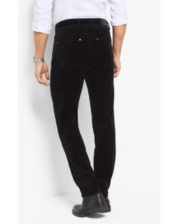 Slim-fit Velvet Five-pocket Pants