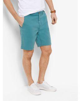 Slim-fit Cotton-twill Shorts