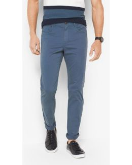 Slim-fit Cotton-twill Five-pocket Pants