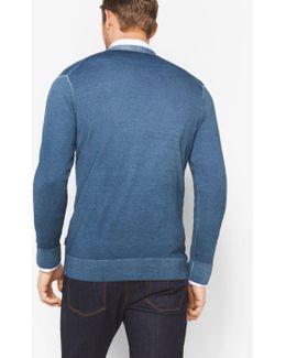 Washed Merino Wool Cardigan
