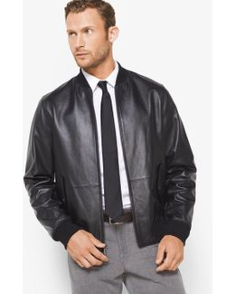Reversible Leather And Nylon Jacket