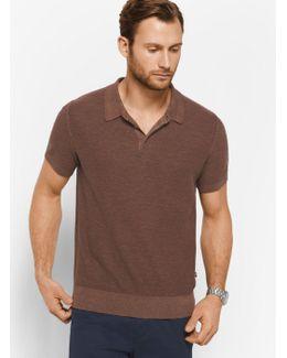 Pique Linen And Cotton Polo Shirt