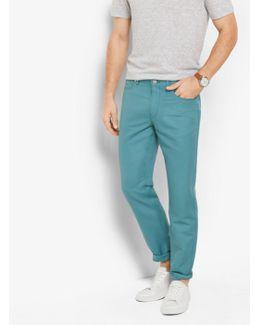 Tailored/classic-fit Linen-blend Five-pocket Pants