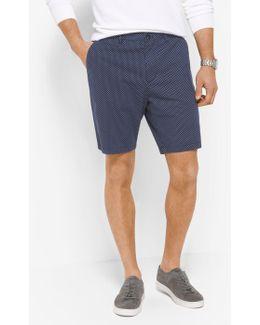 Dot-print Stretch-twill Shorts