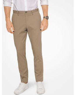Slim-fit Stretch-cotton Trousers
