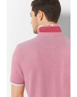 Greenwich Striped Cotton Polo Shirt
