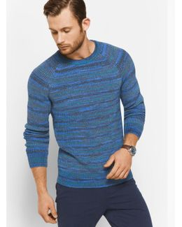 Space-dyed Cotton-blend Pullover