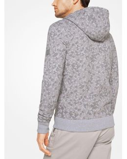 Camouflage Stretch-cotton Zip-up Hoodie