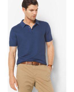 Silk And Cotton Polo Shirt