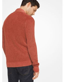 Washed Linen And Cotton Cardigan