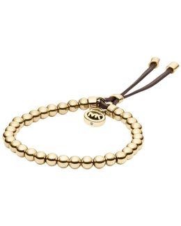 Gold-tone Beaded Bracelet