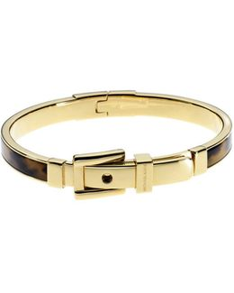 Bedford Tortoise Acetate And Gold-tone Buckle Bangle