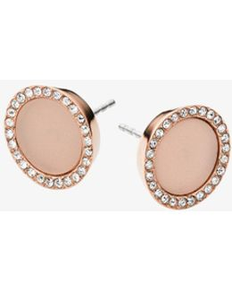 Blush Acetate And Stainless Steel Earrings