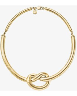 Gold-tone Knot Necklace