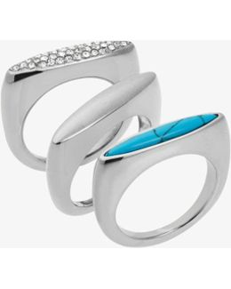 Silver-tone Stacking Rings