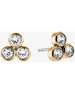 Crystal Gold-tone Cluster Earrings