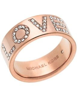 """love"" Rose Gold-tone Ring"