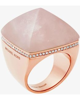 Rose Gold-tone Pyramid Ring