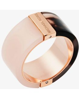 Rose Gold-tone Color-block Ring