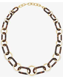 Gold-tone Statement Link Necklace