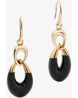 Gold-tone And Acetate Chain-link Drop Earrings