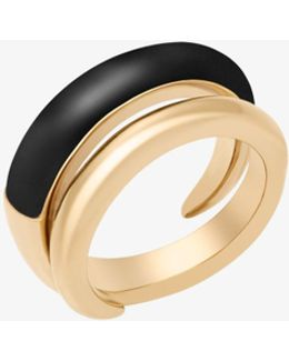 Gold-tone And Acetate Twist Ring